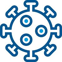 Icon representing a virus