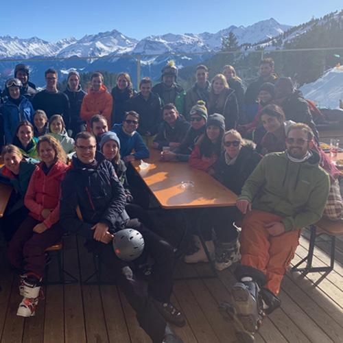 Young Linde Professionals Ski Photo