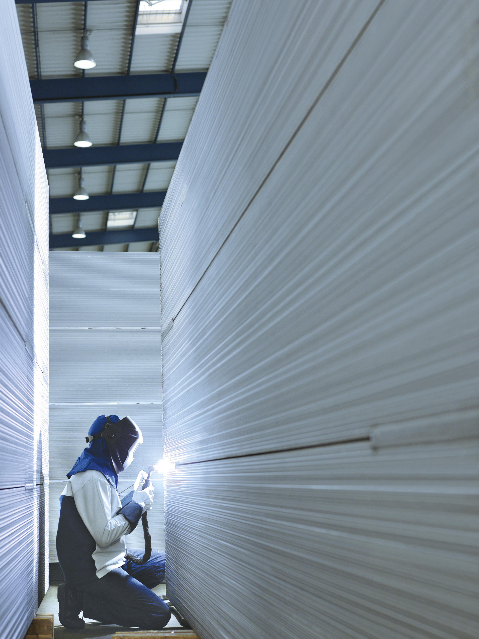 Welder welding non-ferrous materials